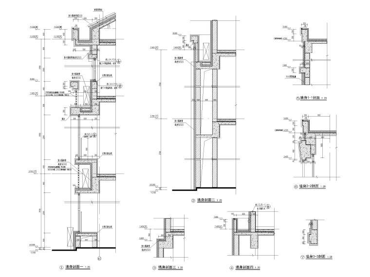 三层框架结构18班幼儿园建筑施工图2016-节点大样图