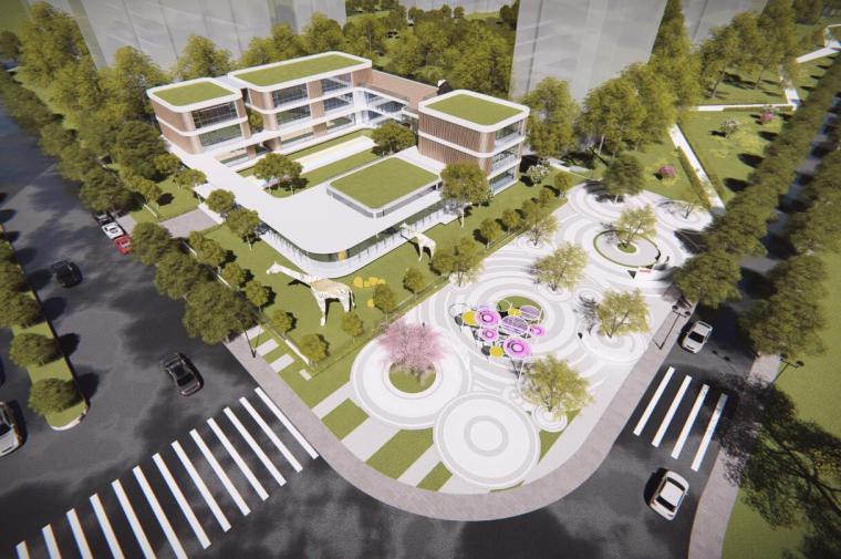 [安徽]合肥现代风格生态公园住宅景观方案-001 鸟瞰图