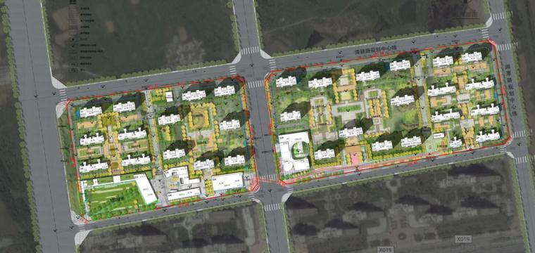 [安徽]合肥现代风格生态公园住宅景观方案-规划总平面图