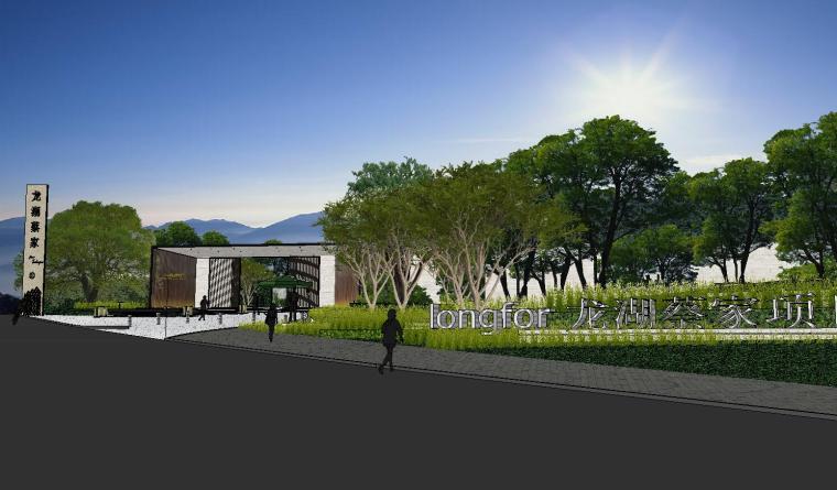 [重庆]知名企业椿山现代示范区景观模型-龙湖椿山现代风格示范区景观模型设计 (1)