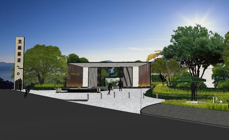 [重庆]知名企业椿山现代示范区景观模型-龙湖椿山现代风格示范区景观模型设计 (2)