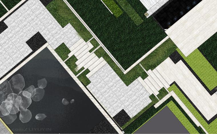 [重庆]知名企业椿山现代示范区景观模型-龙湖椿山现代风格示范区景观模型设计 (3)