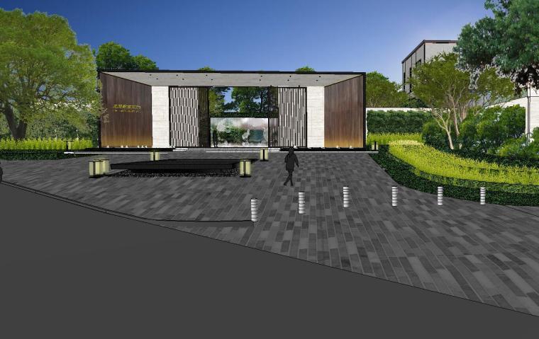 [重庆]知名企业椿山现代示范区景观模型-龙湖椿山现代风格示范区景观模型设计 (4)