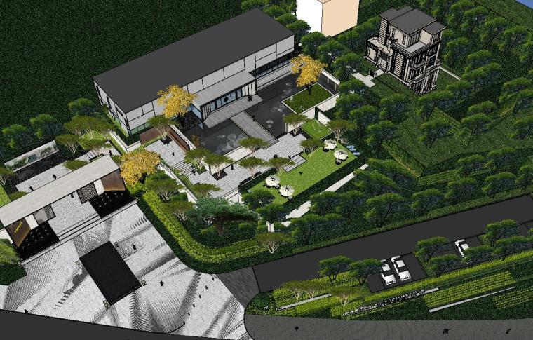 [重庆]知名企业椿山现代示范区景观模型-龙湖椿山现代风格示范区景观模型设计 (6)