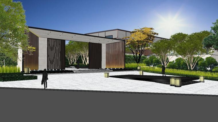 [重庆]知名企业椿山现代示范区景观模型-龙湖椿山现代风格示范区景观模型设计 (5)