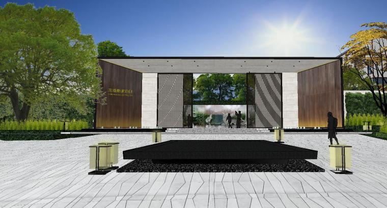[重庆]知名企业椿山现代示范区景观模型-龙湖椿山现代风格示范区景观模型设计 (7)