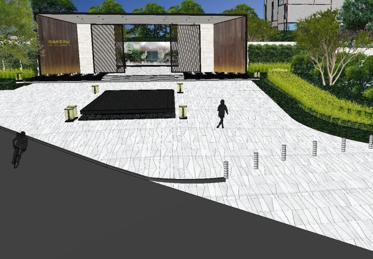 [重庆]知名企业椿山现代示范区景观模型-龙湖椿山现代风格示范区景观模型设计 (15)