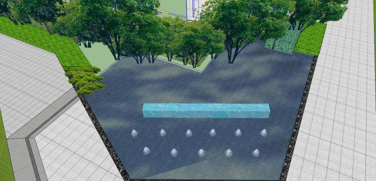 知名企业开元新中式风格洋房景观SU模型设计 (12)