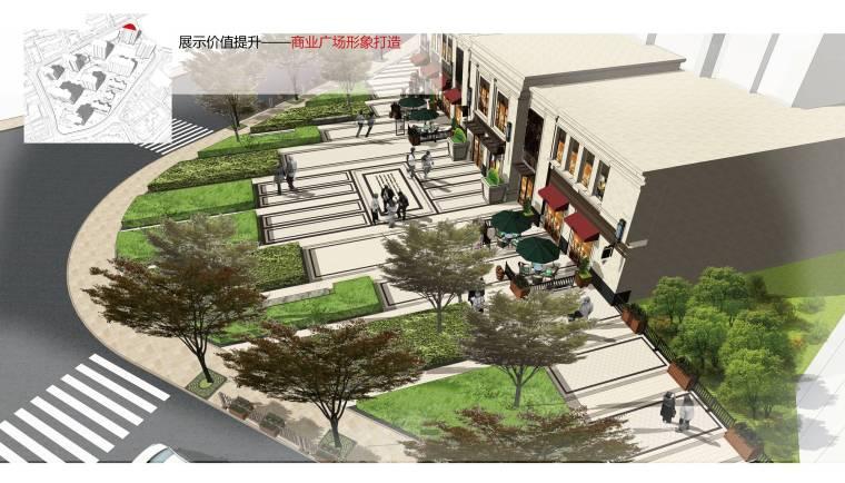 [上海]知名地产高端居住区景观方案-商业广场鸟瞰图