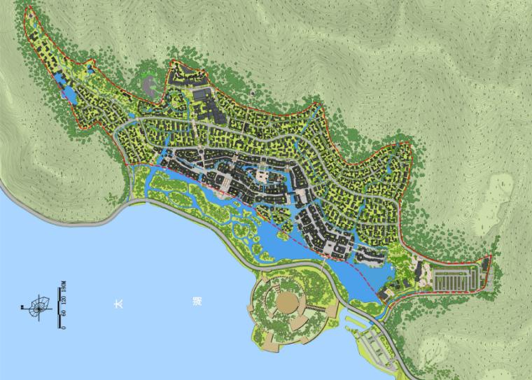 [江苏]无锡禅意休闲旅游度假区规划方案-规划总平面图
