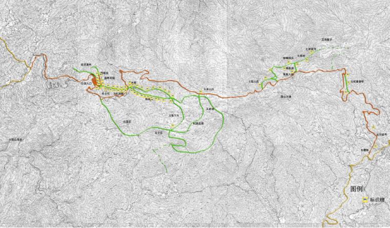 [湖南]浏阳国家森林公园旅游区规划方案-标识系统图