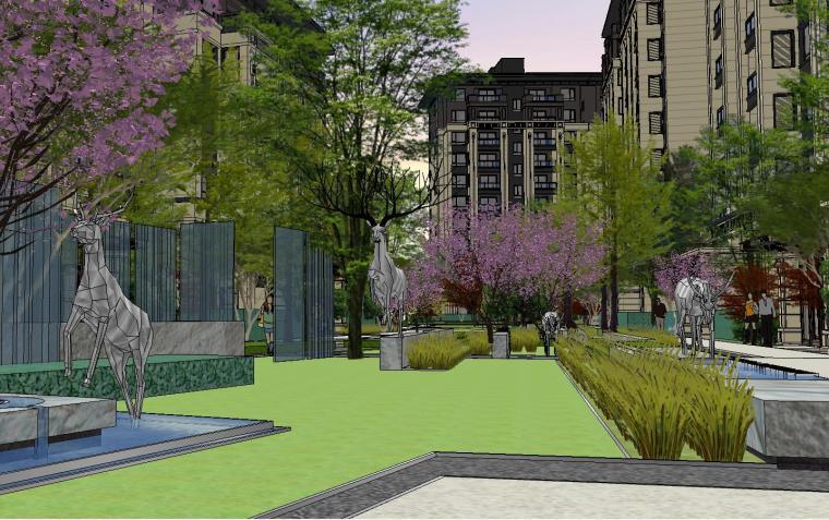 [重庆]龙湖紫云台新古典示范区景观模型设计-龙湖紫云台新古典示范区景观模型设计 (1)