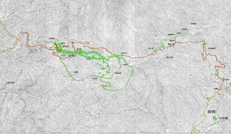 [湖南]浏阳国家森林公园旅游区规划方案-环卫系统图