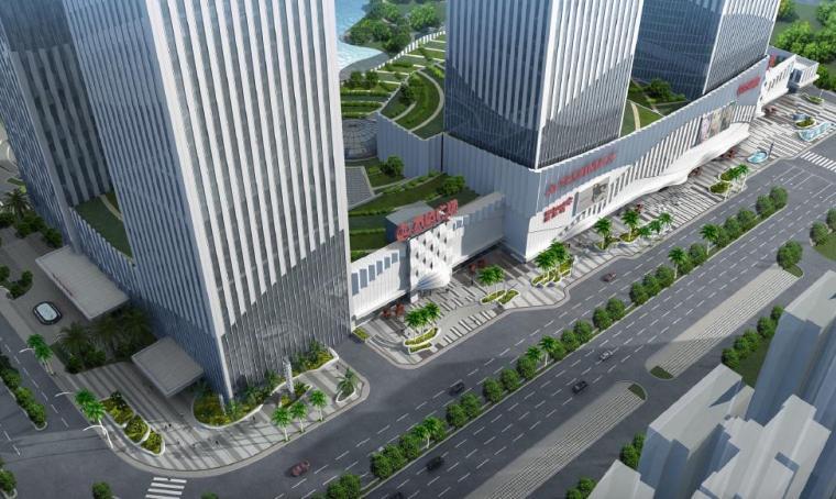 [广西]南宁著名商业广场景观设计方案-鸟瞰图