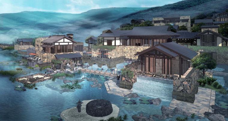 [江苏]无锡禅意休闲旅游度假区规划方案-滨水休闲SPA示意图