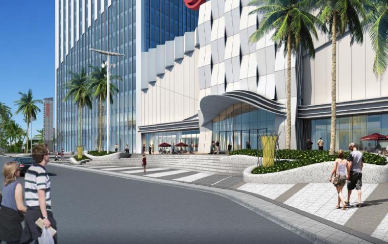 [广西]南宁著名商业广场景观设计方案-入口广场景观效果图2