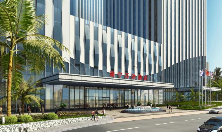 [广西]南宁著名商业广场景观设计方案-入口区效果图