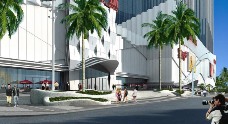 [广西]南宁著名商业广场景观设计方案-入口广场景观效果图