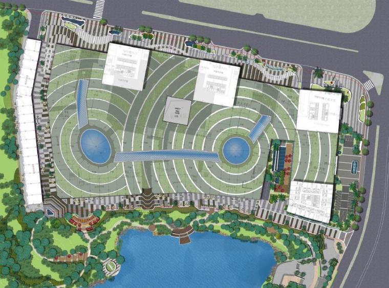 [广西]南宁著名商业广场景观设计方案-总平面图