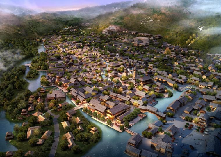 [江苏]无锡禅意休闲旅游度假区规划方案-旅游区节点效果图