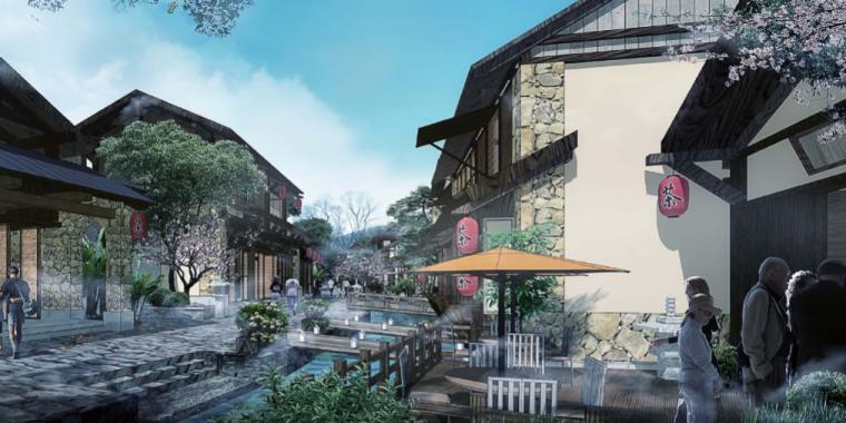 [江苏]无锡禅意休闲旅游度假区规划方案-美食街示意图
