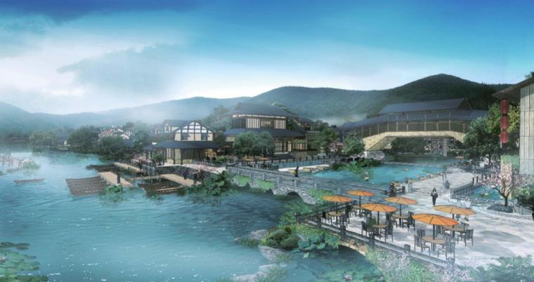 [江苏]无锡禅意休闲旅游度假区规划方案-南泉桥示意图
