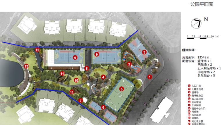 [重庆]开放生态体育公园景观设计方案-总平面图
