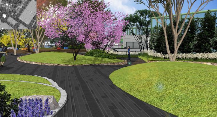 [重庆]开放生态体育公园景观设计方案-区位健身区