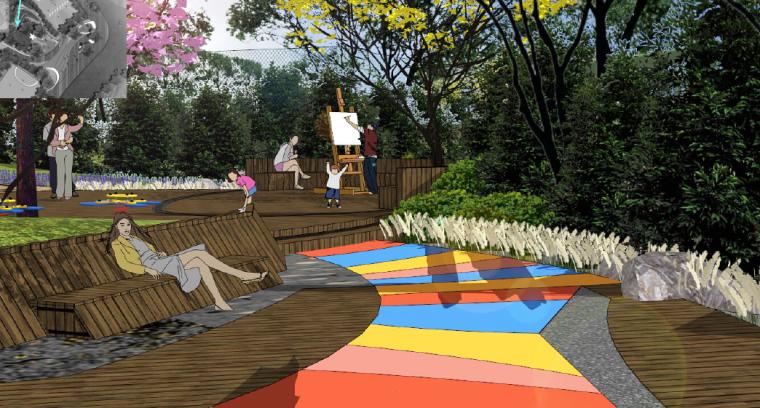 [重庆]开放生态体育公园景观设计方案-入口形象及儿童活动区效果图3