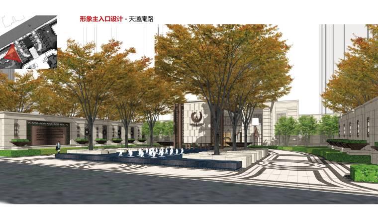 [上海]知名地产高端居住区景观方案-形象主入口设计