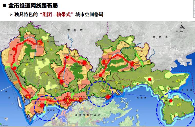[广东]深圳城市绿道网专项规划方案-全市绿道网布局