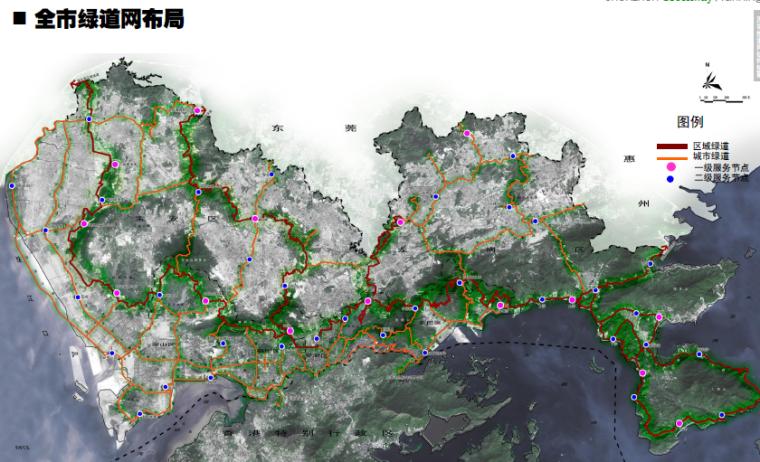 [广东]深圳城市绿道网专项规划方案-全市绿道网布局2