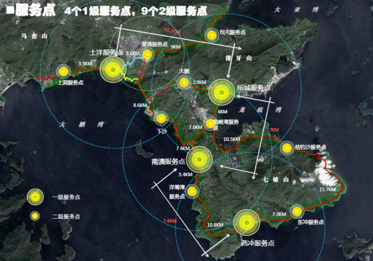[广东]深圳城市绿道网专项规划方案-服务点规划
