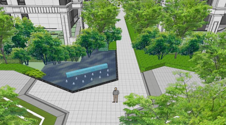知名企业开元新中式风格洋房景观SU模型设计 (9)