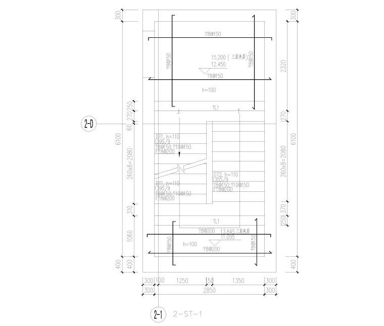 [北京]云计算数据中心全套施工图2016(CAD)-楼梯结构平面图