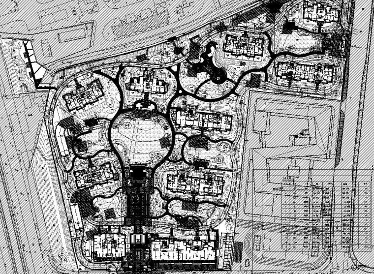 [上海]知名企业现代居住区景观电施工图-知名企业现代居住区景观给排水施工图 (1)