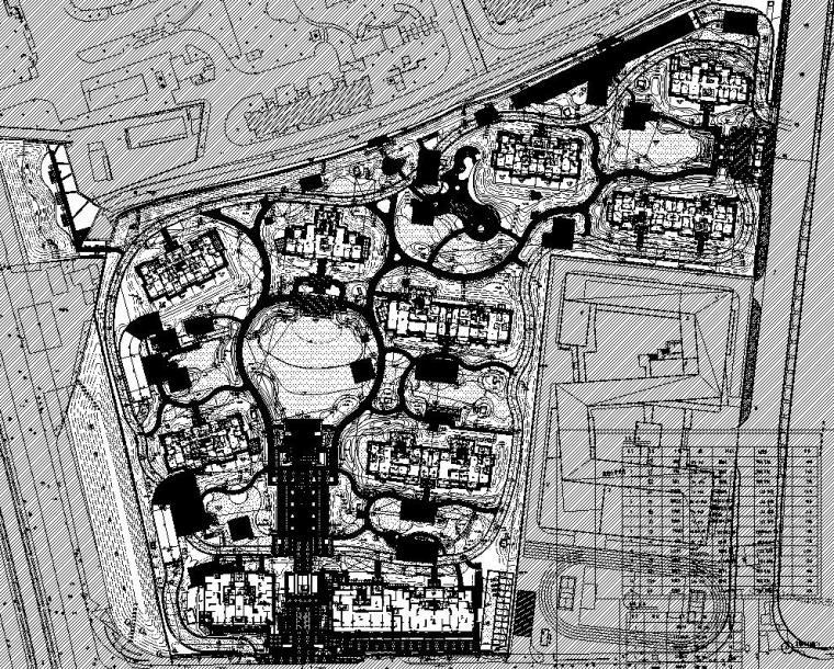 [上海]知名企业现代居住区景观电施工图-知名企业现代居住区景观给排水施工图 (2)
