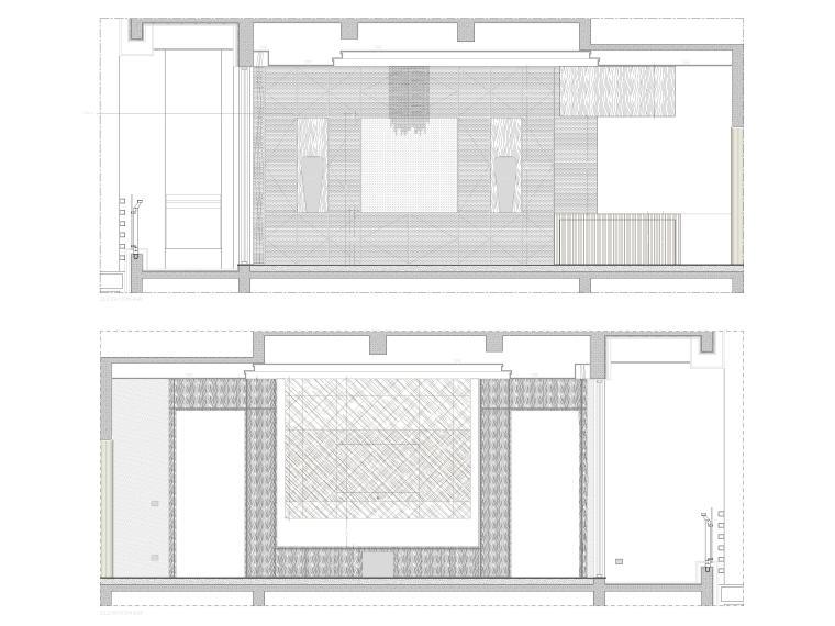 [成都]麓湖生态城二层四居别墅样板间施工图-别墅立面图