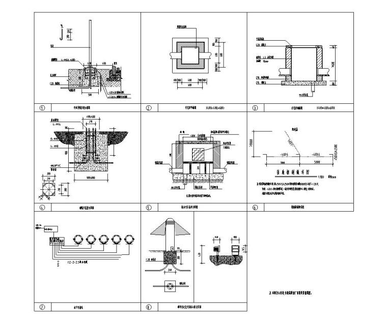 [上海]知名企业现代居住区景观电施工图-知名企业现代居住区景观给排水施工图 (5)