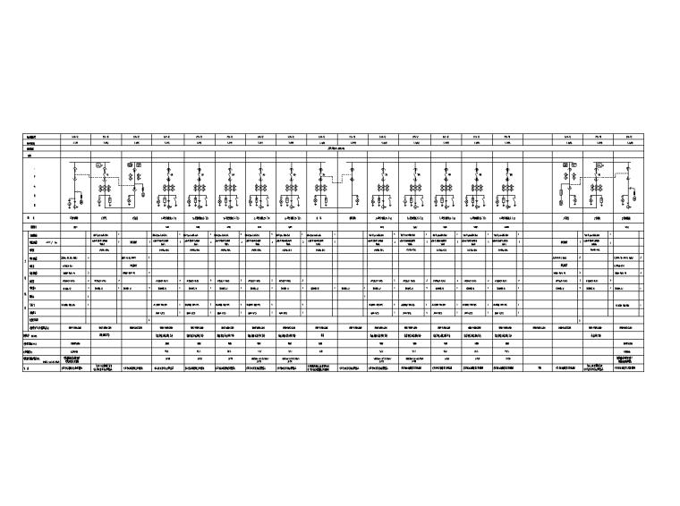 北京13万平金融中心电气智能化水暖施工图-高压系统图