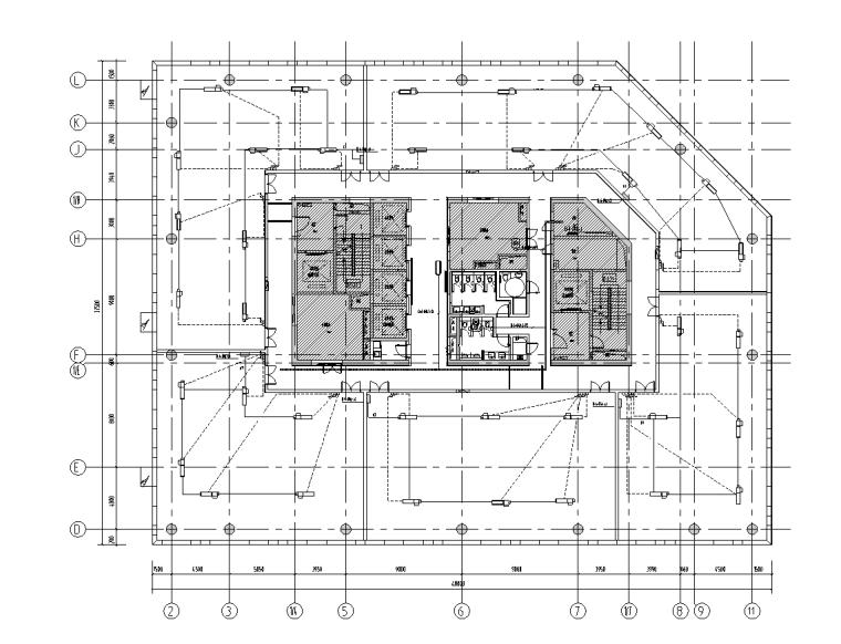 上海虹桥商务区电气装饰深化设计图(2017)-动力平面图