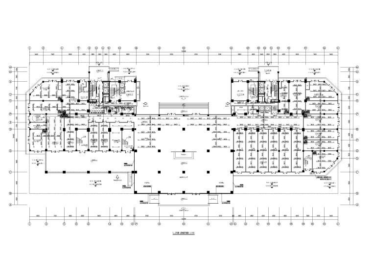 [贵州]二十四层接待中心给排水施工图-1、2号楼一层喷淋平面图