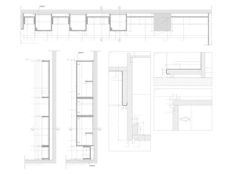 [成都]麓湖生态城二层四居别墅样板间施工图-节点大样详图