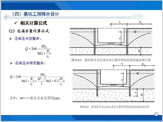 基坑降水技术及相关案例分析(143页)-总涌水量计算公式