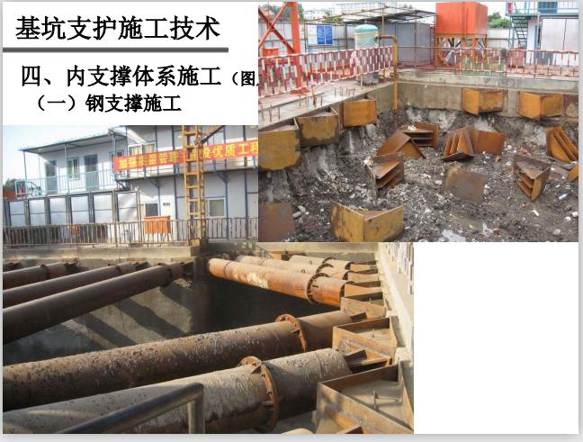 基坑支护施工技术详解讲义(121页,多图)-钢支撑施工