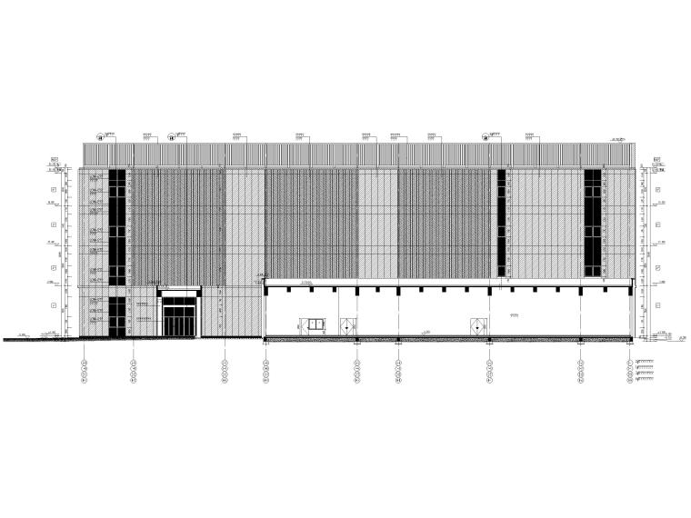 [北京]云计算数据中心全套施工图2016(CAD)-南立面图