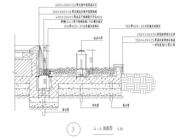 住宅区现代风格水景详图设计 (8)