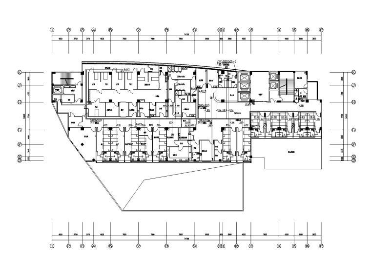 [福建]县医院病房大楼电气施工图(强弱电)-3配电平面图