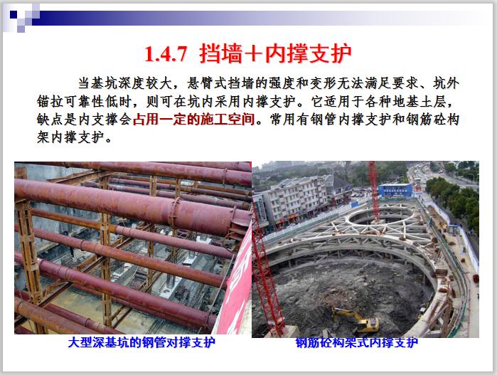 深基坑施工技术详解课件PPT(102页,多图)-挡墙+内撑支护