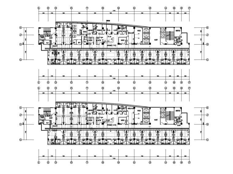 [福建]县医院病房大楼电气施工图(强弱电)-4弱电平面图